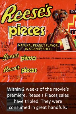 Reese's Pieces bite sized information