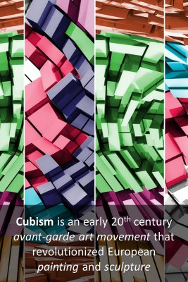 Cubism micro-learning cards