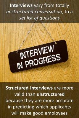 Job interview information - back