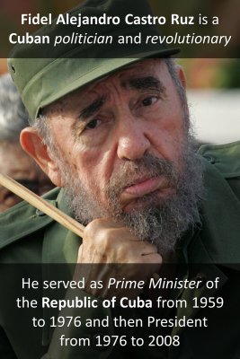 Who is Fidel Castro micro-learning cards