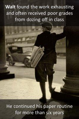 Delivering newspapers - back