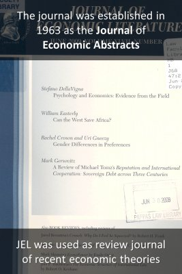 Journal of Economic Literature - back