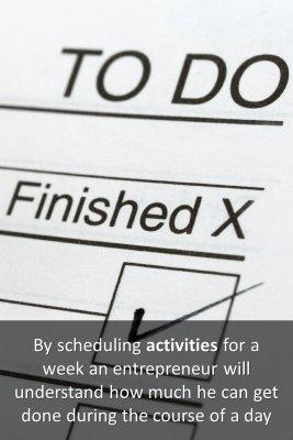 Schedule - back