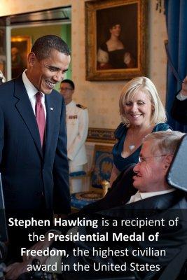 Hawking's achievements bite sized information