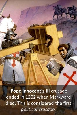First political crusade - back