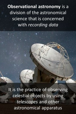 Observational astronomy micro courses