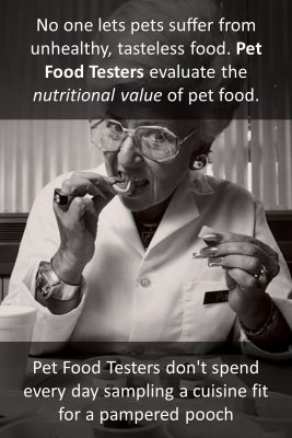 Pet food testers micro courses