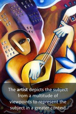 Cubist artwork - back