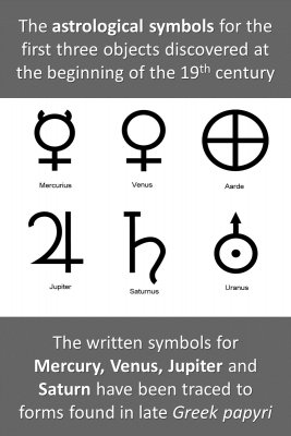 Astrological symbols - back