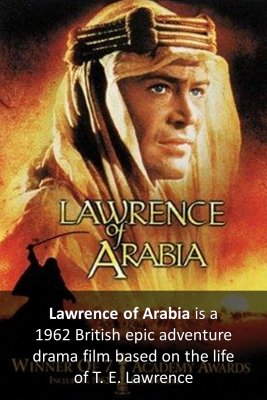 Lawrence of Arabia micro courses