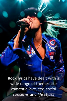 Rock lyrics - front