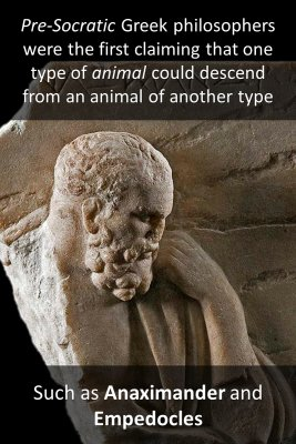 History of evolutionary thought bite sized information