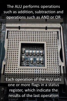 ALU & control logic section bite sized information