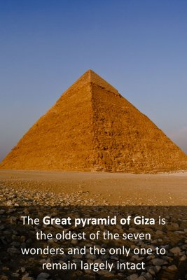 Pyramid of Giza bite sized information