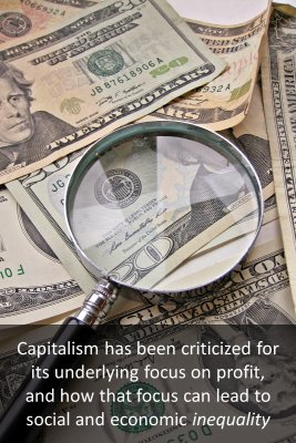 Criticism of capitalism bite sized information