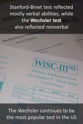 The Wechsler test - back
