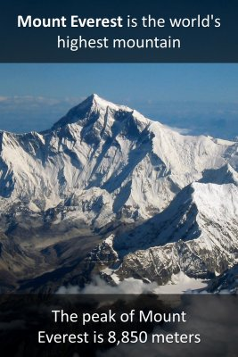 Mount Everest micro-learning cards