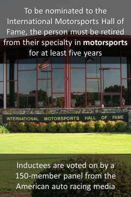 International Motorsports Hall of Fame - back