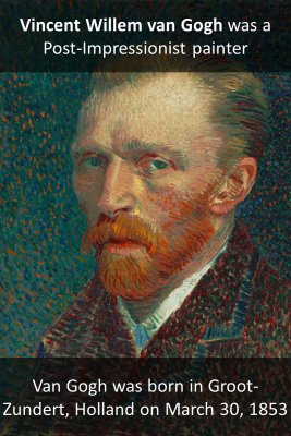 Vincent van Gogh micro-learning cards