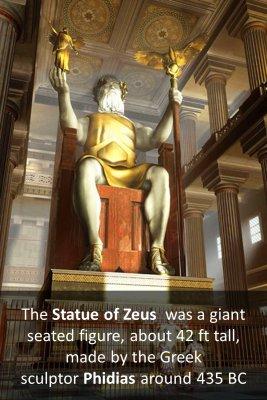 The statue of Zeus - back