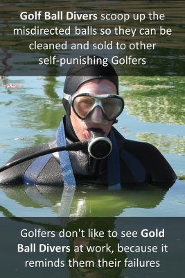 Golf ball divers - back