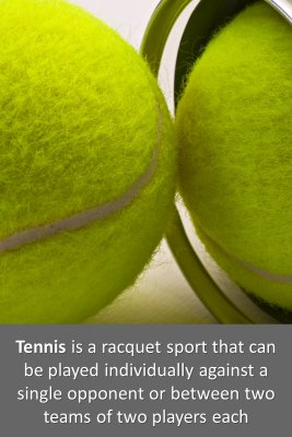 About Tennis 1/2 micro-learning cards