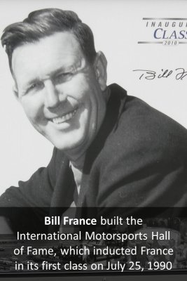 Bill France, Sr - back
